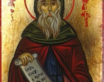 Saint Benedict,byzantine icon, hand painted icon,greek icon