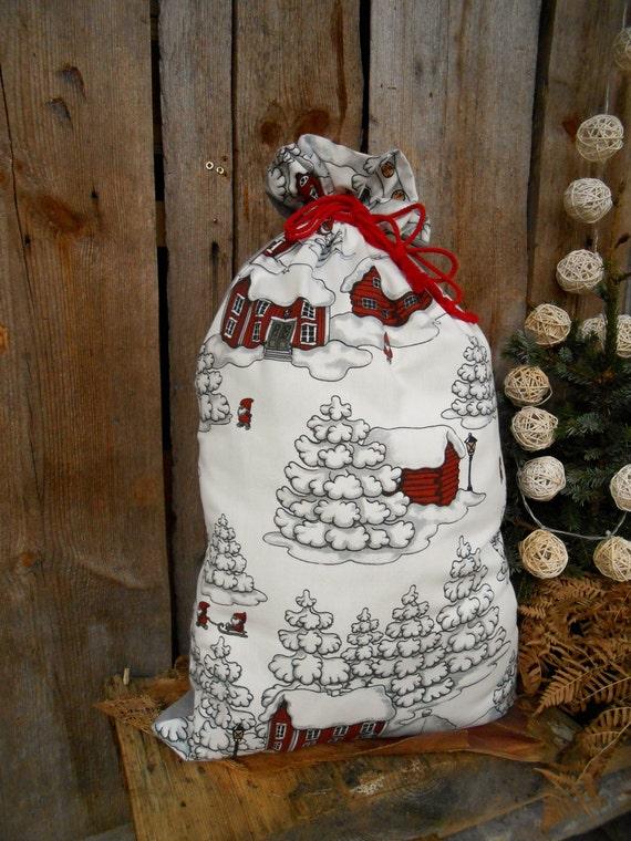 Christmas gift bag decorating ornament