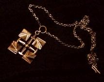 Modernist Bronze pendant /nacklace - Made in Finland - 60s vintage Pentti Sarpaneva.