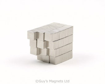 6mm x 6mm x 1mm strong neodymium block magnets ideal for magnetic card closures and magnetising wargame figures GuysMagnets