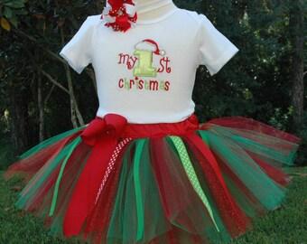 Baby Christmas Outfit-Babies First Christmas Outfit-Christmas Gift-Baby Christmas Tutu,My First Christmas