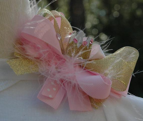 Gold Crown Headband.Gold Birthday Crown.Newborn Gold Birthday Crown,Princess Gold Glitter Crown Headband.Pink Gold Crown.Smash Cake Crown