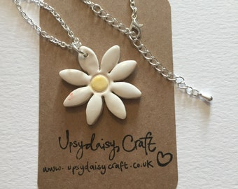 Ceramic Daisy necklace