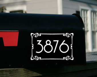 2 sets of Art Deco Style Custom Mailbox Numbers