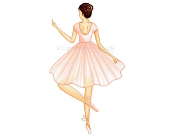 Fashion illustration print - Ballerina art print, Ballerina artwork, Ballet art, Ballerina print, Ballerina wall art, Ballerina nursery art