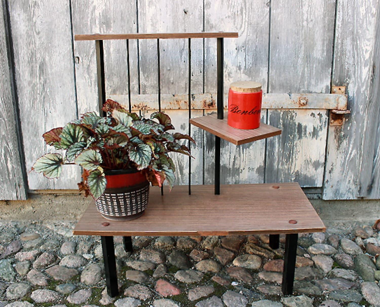 vintage mid century modern plant stand 50s by wollariumsvintage. Black Bedroom Furniture Sets. Home Design Ideas