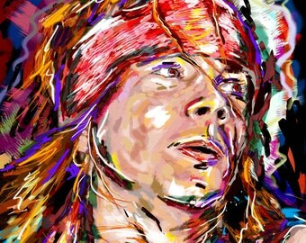 Axl Rose Art, Guns n Roses Original Painting Art Print