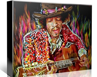 Jimi Hendrix Painting, Hendrix Canvas, Jimi Art