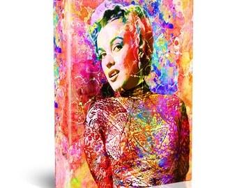 Marilyn Monroe Painting, Hollywood Canvas, Monroe Art Print