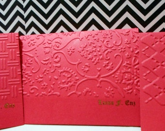 Mini Personalized Foiled Cards - Set of 8
