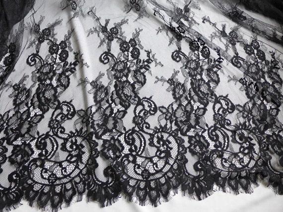 59 encaje de boda chantilly tela tela de encaje floral - Chantilly telas ...