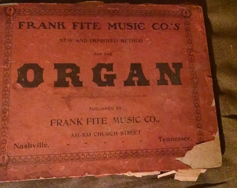 Victorian Antique 1877 organ music book. Free shipping!!!