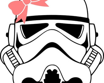 Star Wars Stormtrooper With Bow Vinyl Decal Sticker