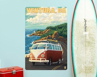 Ventura California Surfing Van Wall Decal - #60864