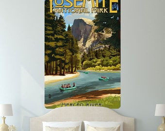 Yosemite Natl Park Merced River Wall Decal - #60935