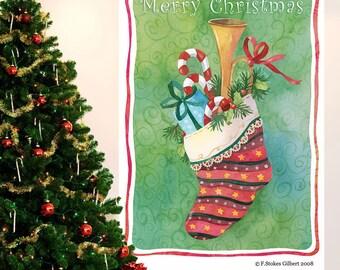Christmas Stocking Holiday Wall Decal - #65602