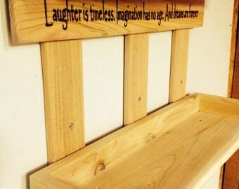 Personalized Handmade Cedar DVD/Book Shelf