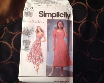 Reproduction Simplicityu Pattern from 1940s, sizes 12-16