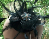 Black Hat Black Fascinator Hat Black Cocktail Hat Black Wedding Hat Black Races Hat  Kentucky Derby Hat Ladies Day Hat Black Ascot Hat