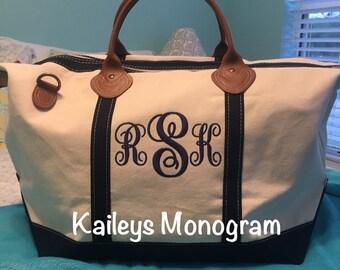 Carry On Bag - Weekender - Monogram Weekender - Monogram Tote - Large Weekender Bag