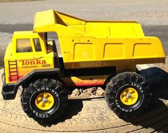Camion tonka metal etsy - Camion benne tonka ...