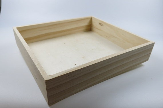 items similar to natural wood wooden box without lid