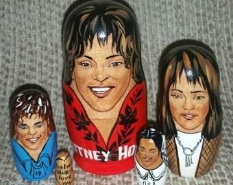 Whitney Houston on Russian Nesting Dolls.
