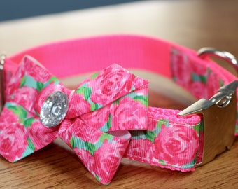 Lilly-Inspired Rose Garden Dog Collar *Bow not included*