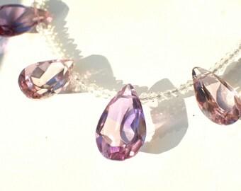 Ametrine Topaz gemstone necklace  with silver chain  // Accessories ,jewelry, birthday, gift