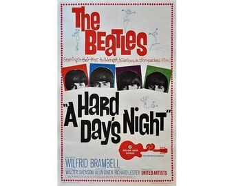 Greeting card of The Beatles Hard Days Night movie