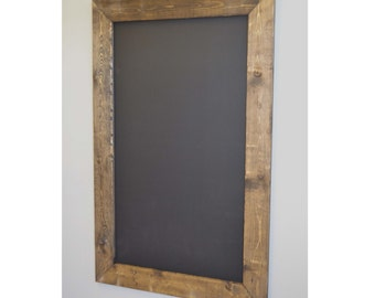 Large Rustic Framed Chalkboard 44x28, Rustic Wedding, Wedding Sign, Chalkboard Sign, Menu Board, Framed Chalkboard, Father's Day Gift