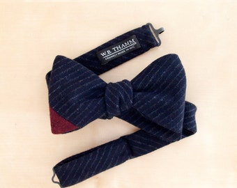 Flyn Men's Bow tie - Pinstripe navy/white bowtie