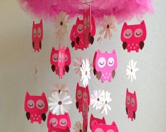 Owl Crib Mobile - Owles Nursery Mobile - Owl Baby Mobile