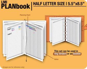 FULL  [Half size PlanBook] August 2017 to December 2018 - Filofax Inserts Printable Binder Planner Midori.