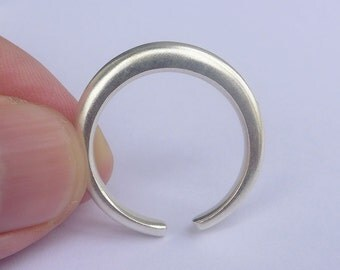 Solid Sterling Silver Moon Ring
