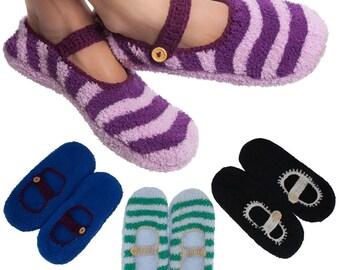 Mary Jane Style Comfy Slipper Socks