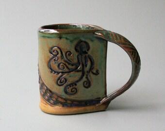 Octopus Mug Hand-built Stoneware