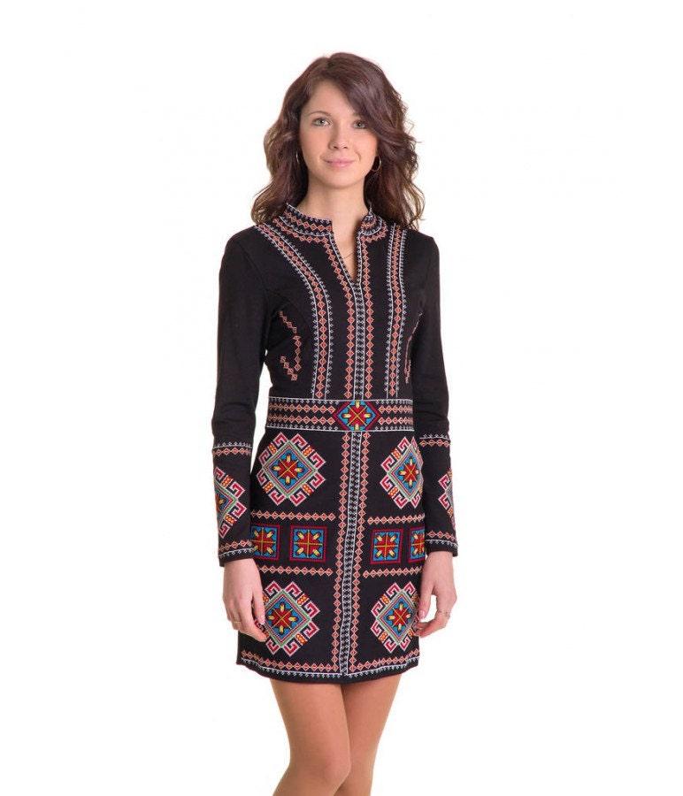 Modern traditional ukrainian embroidered women s dress
