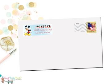 Mickey Address Label (SKU: MAL001)