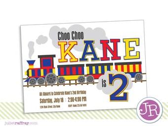 Choo Choo Birthday Invitation