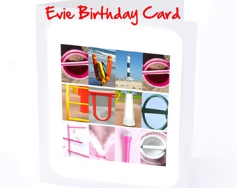 Evie Personalised Birthday Card
