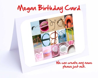 Megan Personalised Birthday Card