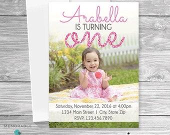 Birthday Invitation with Picture - Kids Birthday Invitation - Children Birthday Invitation - Birthday Invitation - Birthday Party