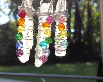 Magical rainbow pendant necklace,  3 different styles to choose from.