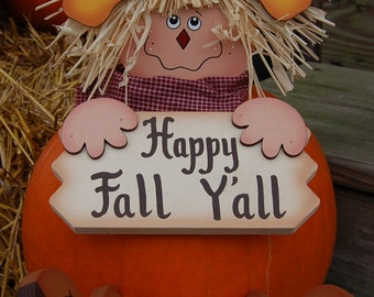 Pumpkin Poke - Fall Scarecrow - Happy Fall Y'all
