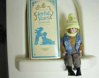 Porcelain Boy Doll Winter Doll Male Doll Gorham Dolls Joyful Years Limited Collectible Doll SALE Wife Sister Mom Gifts For Her