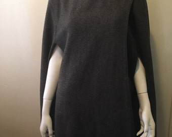 Stunning 1970's wool wrap cape with crochet details fantastic fall fashion piece one size EPIC!