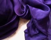 Belly Dance Veil, Silk Veil Eggplant Purple