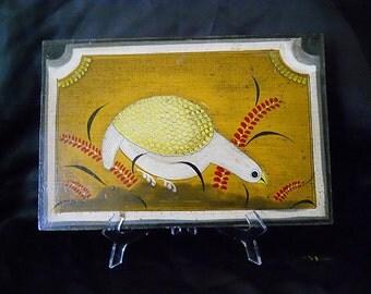 Bird Painting on Masonite Wood Home Decor