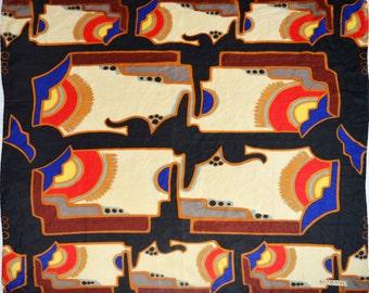 Vintage Romano Italian Design scarf 88/86 cm